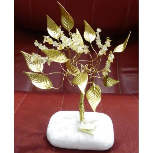 Δέντρο αφθονίας με κρυστάλλους κιτρίνη