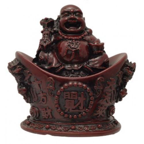 Τυχερός Βούδας σε δοχείο πλούτου
