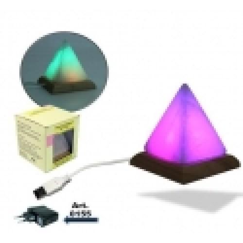 Φωτιστικό πυραμίδα από ορυκτό αλάτι Ιμαλαϊων για υπολογιστές