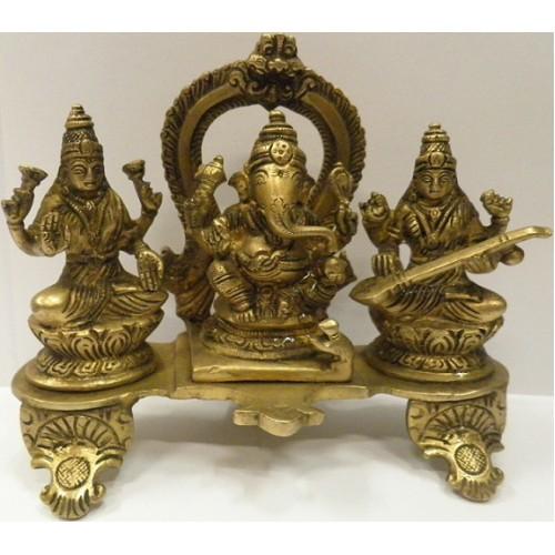 Ινδικό άγαλμα 3 θεότητες Λάξμι-Γκανέσα-Σαρασβάτι