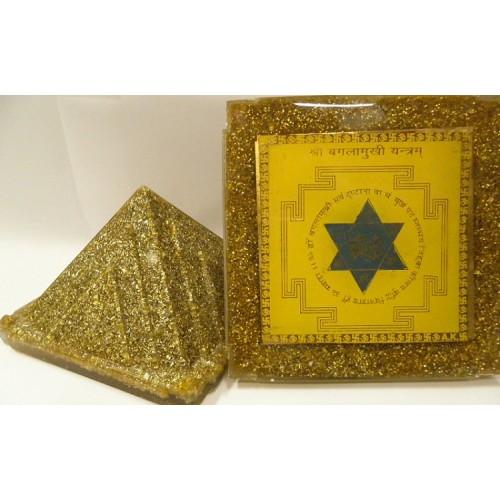 Πυραμίδα οργονίτης με μαντάλες ιερής γεωμετρίας για ισχυρή προστασία από όλες τις αρνητικές ενέργειες