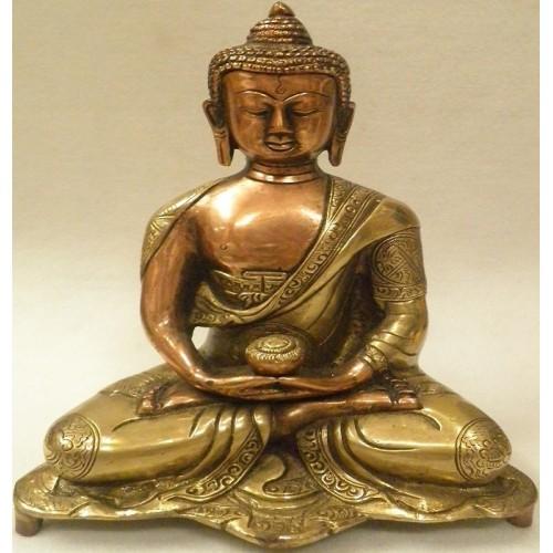 Βούδας σε διαλογισμό από μπρούτζο και χαλκό