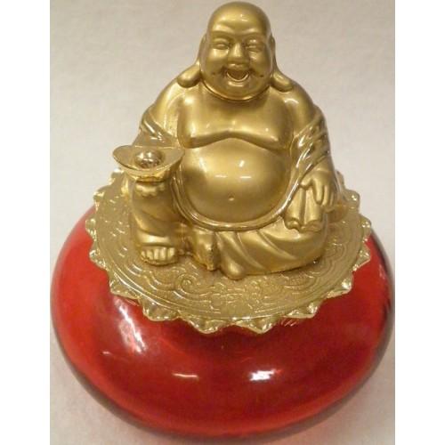 Βούδας γελαστός για αφθονία και ευημερία επίχρυσος 18k