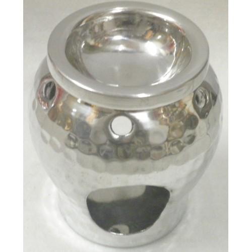 Συσκευή καύσης αιθέριων ελαίων μεταλλική/ ασημί