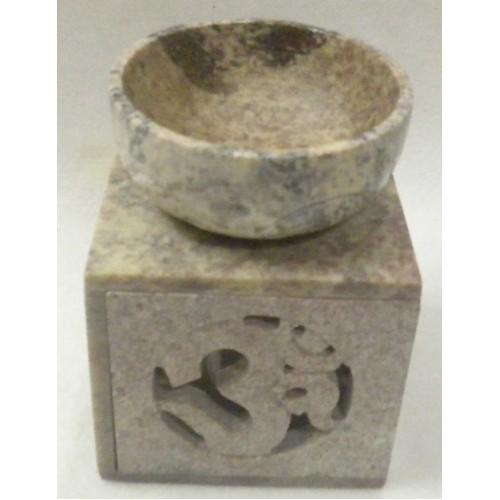 Συσκευή καύσης αιθέριων ελαίων πέτρινη με το σύμβολο του ΟΜ