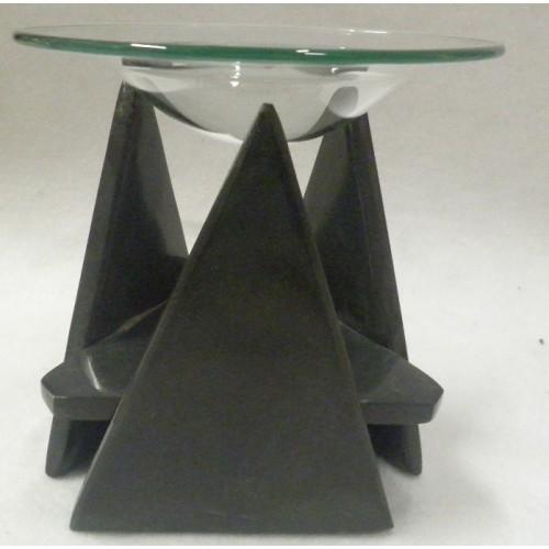 Συσκευή καύσης αιθέριων ελαίων με πέτρα και γυάλινο πιατάκι