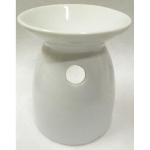 Συσκευή καύσης αιθέριων ελαίων κεραμική σε άσπρο χρώμα