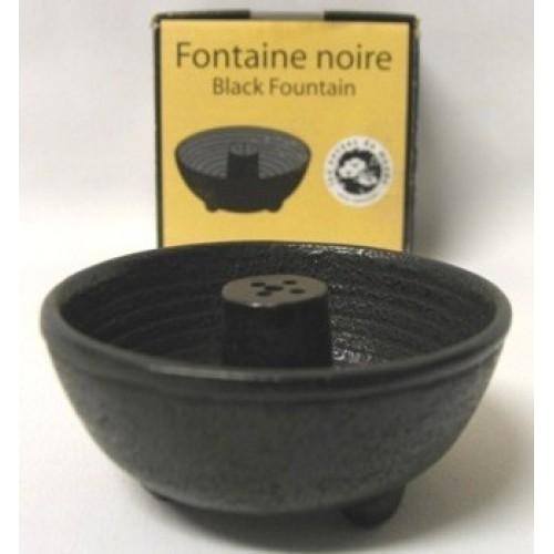 Πέτρινο μπωλ σε μαύρο χρώμα με 4 θέσεις στο εσωτερικό για καύση αρωματικών στικ