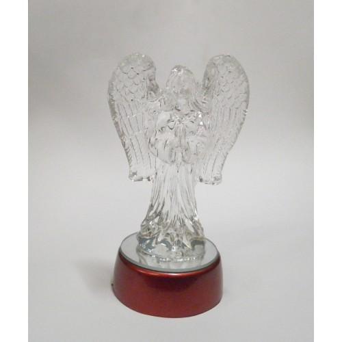 Άγγελος κρυστάλλινος πάνω σε περιστρεφόμενη βάση