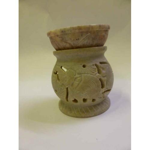 Συσκευή καύσης αιθέριων ελαίων πέτρινη με ελεφαντάκι μικρή