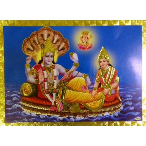 Κάρτα έγχρωμη Vishnu-Lakshmi