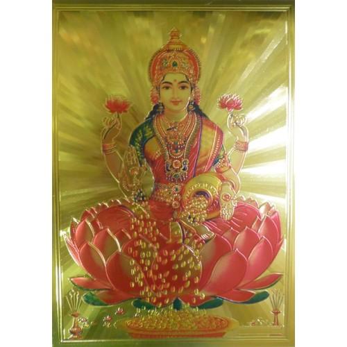 Κάρτα έγχρωμη θεά Lakshmi