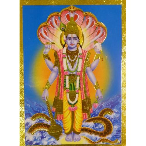 Κάρτα έγχρωμη Vishnu Narayana
