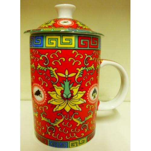Κόκκινη κινέζικη κούπα