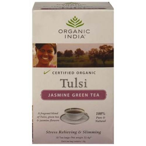 Tulsi Jasmine Green Tea (Organic India)