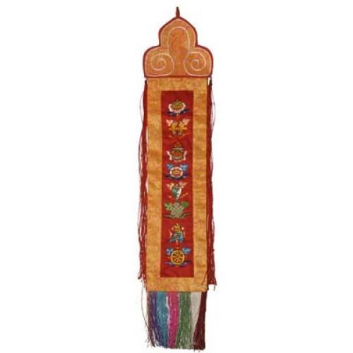 Θιβετιανικό κρεμαστό τοίχου με 8 ευοίωνα σύμβολα