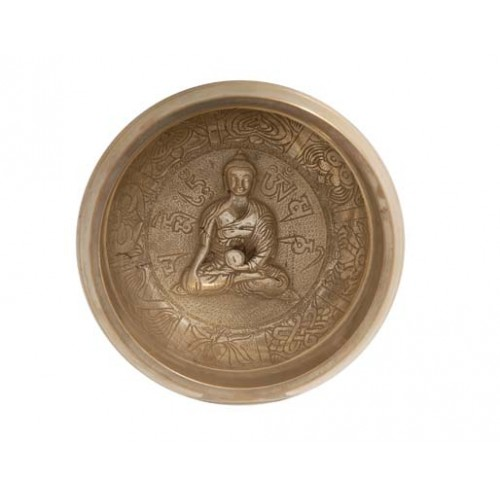 θιβετανικό singing bowl με Βούδα