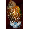 Ψάρι Αρουάνα επίχρυσο με πέρλα