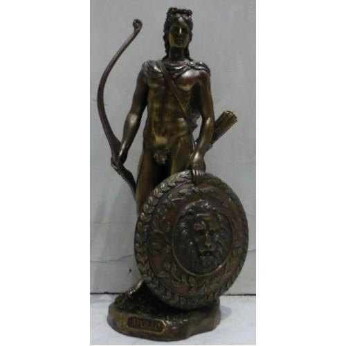 Θεός Απόλλωνας με τόξο και ασπίδα