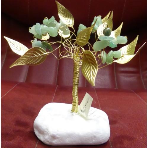 Δέντρο αβεντουρίνης με λευκή βάση