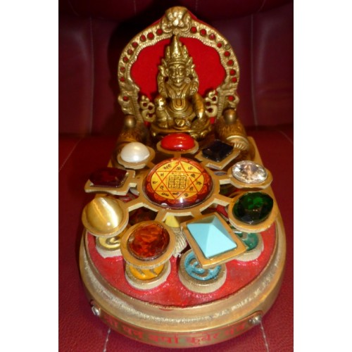 Μάνταλα με το θεό Κούμπερ, τους κρυστάλλους και τα σύμβολα των εννέα πλανητών για ευημερία