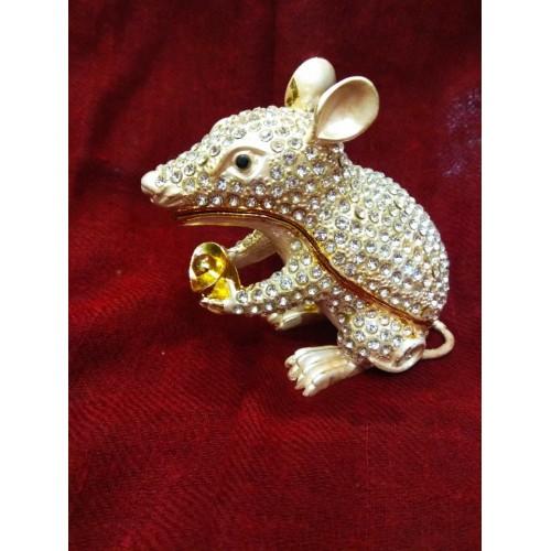 Μεταλλικός Ποντικός με δοχείο πλούτου