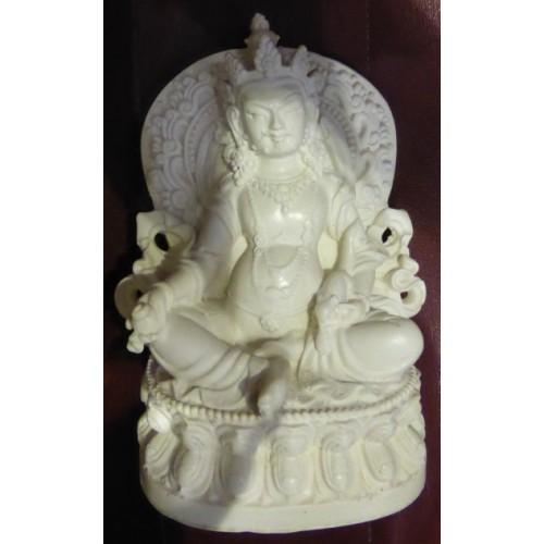 Κούμπερ/Ζάμπαλα άγαλμα λευκό για ευημερία